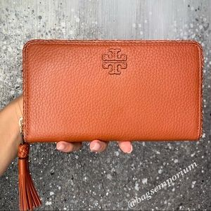 Tory Burch Taylor Zip Continental Leather Wallet